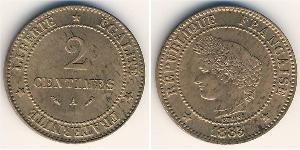 2 Centavo French Third Republic (1870-1940)  Copper