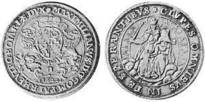 1/2 Thaler Duchy of Bavaria (907 - 1623) 銀 Maximilian I, Elector of Bavaria (1573 – 1651)
