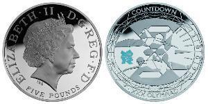 5 Фунт Велика Британія (1922-) Срібло Єлизавета II (1926-)