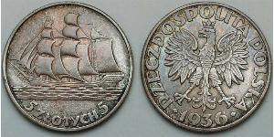 5 Zloty Second Polish Republic (1918 - 1939)