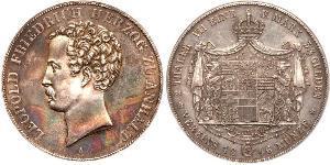 2 Thaler Anhalt-Dessau (1603 -1863) Plata Leopoldo IV de Anhalt (1794 – 1871)