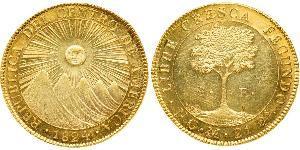 8 Эскудо Гватемала Золото