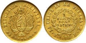 1 Ескудо Багатонаціональна Держава Болівія  (1825 - ) Золото