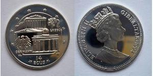14 Ecu Gibilterra  Elisabetta II (1926-)