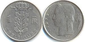 1 Franc 比利时 镍/銅