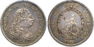 5 Shilling / 1 Dollar British Empire (1497 - 1949) / United Kingdom of Great Britain and Ireland (1801-1922) Silver George III (1738-1820)
