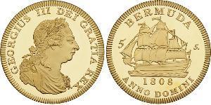 5 Шиллинг Бермудские Острова Золото Георг III (1738-1820)