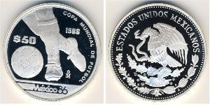 50 Peso México (1867 - ) Plata