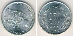 150 Lira Türkei (1923 - ) Silber