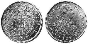 2 Escudo Viceroyalty of the Río de la Plata (1776 - 1814) / Bolivia Gold Charles IV of Spain (1748-1819)