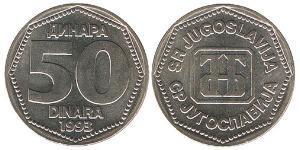 50 Dinar Sozialistische Föderative Republik Jugoslawien (1943 -1992) Kupfer/Nickel