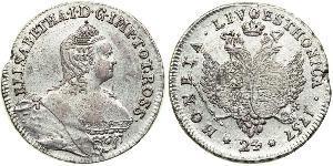 24 Kopeke Russisches Reich (1720-1917) Silber Jelisaweta I Petrowna (1709-1762)