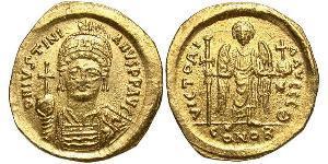 Solidus Imperio bizantino (330-1453) Oro Justiniano I (482-565)