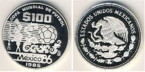 100 Peso United Mexican States (1867 - ) Silver