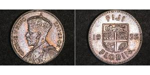 1 Florin Fiji Silver George V of the United Kingdom (1865-1936)