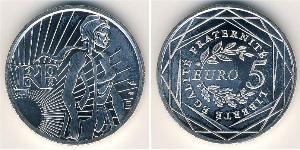 5 Euro French Fifth Republic (1958 - ) Silver