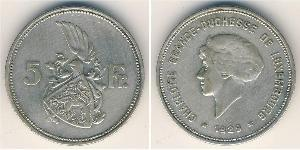 5 Franc Luxembourg Silver