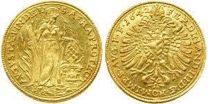 1 Дукат Аугсбург (1276 - 1803) Золото Ferdinand III, Holy Roman Emperor (1608-1657)