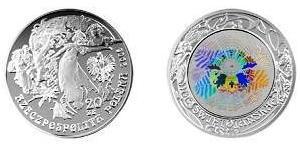 20 Злотый Польша Серебро