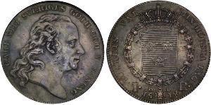 1 Riksdaler 瑞典-挪威联盟 (1814 - 1905) 銀 卡爾十三世 (1748 - 1818)