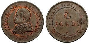 4 Сольдо Папська держава (752-1870)  Пій IX (1792- 1878)