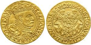 1 Ducat Danzica (1454-1793) Oro Stephen Báthory (1533-1586)