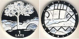 1 Lats Latvia (1991 - ) Silver