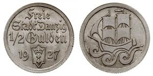 1/2 Гульден Gdansk (1920-1939) Срібло