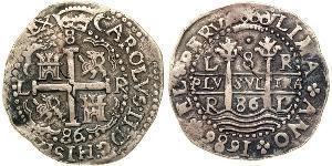 8 Реал Перу Серебро Карл II король Испании (1661-1700)