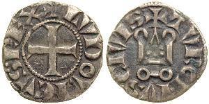 1 Dinar Kingdom of France (843-1791) Silber Ludwig IX (1214-1270)