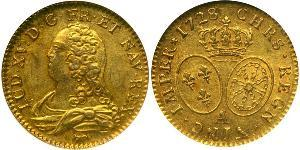 1 Franc Kingdom of France (843-1791) Gold Louis XV of France(1710-1774)