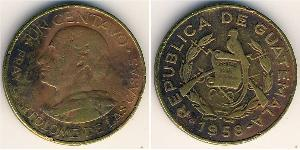 1 Centavo República de Guatemala (1838 - ) Messing
