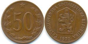 50 Heller Tschechoslowakei  (1918-1992) Bronze