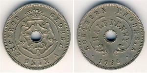 1/2 Penny Southern Rhodesia (1923-1980) Cuivre/Nickel