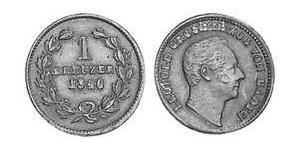 1 Kreuzer Grand-duché de Bade (1806-1918) Cuivre Léopold Ier de Bade(1790 – 1852)