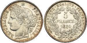 5 Franc Zweite Französische Republik (1848-1852) Silber