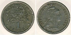 1 Эскудо Вторая Португальская республика (1933 - 1974) Никель/Медь