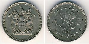 5 Цент Родезія (1965 - 1979) Нікель/Мідь