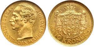 10 Krone Danimarca Oro Federico VIII di Danimarca (1843 - 1912)