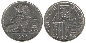 5 Franc 比利时 镍