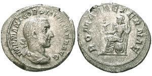 1 Denarius 羅馬帝國 銀 戈尔迪安一世
