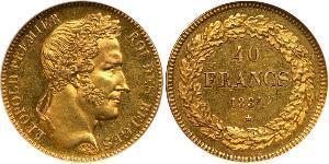 40 Franc Bélgica Oro Leopoldo I de Bélgica (1790-1865)