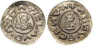 1 Denaro Boemia Argento Wratislaus II of Bohemia (?-1092)