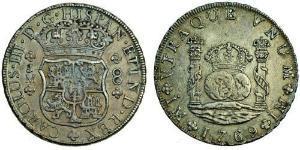 8 Реал Перу Серебро Карл III король Испании (1716 -1788)