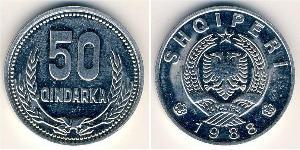 50 Qindarka Albanien Aluminium