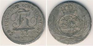 6 Kreuzer Regno di Württemberg (1806-1918) Argento
