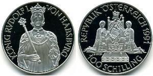 100 Shilling 奥地利 銀