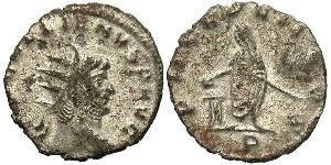 1 Антониниан Римская империя (27BC-395) Серебро/Медь Галлиен (218-268)