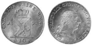 10 Kreuzer Grand Duchy of Baden (1806-1918) Silber