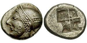 Trihemiobol Grecia antica (1100BC-330) Argento